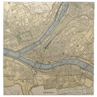 Vintage Map of Pittsburgh PA (1891) Napkin