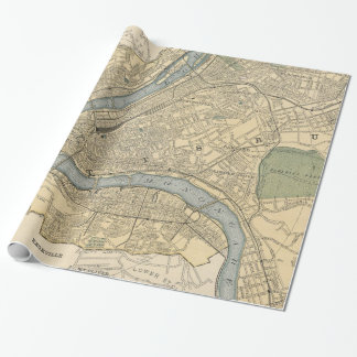 Vintage Map of Pittsburgh PA (1891) Wrapping Paper