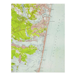 Vintage Map of Point Pleasant NJ (1953) Poster