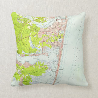 Vintage Map of Point Pleasant NJ (1953) Throw Pillow