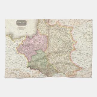 Vintage Map of Poland (1818) Kitchen Towel