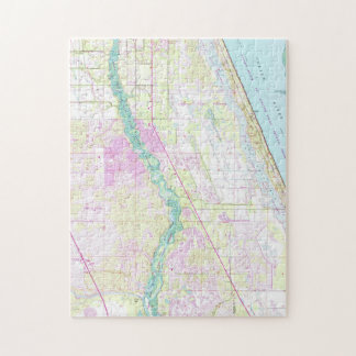 Vintage Map of Port St Lucie Florida (1948) Jigsaw Puzzle