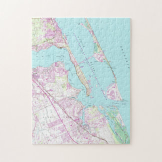 Vintage Map of Port St Lucie Inlet (1948) Jigsaw Puzzle
