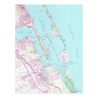 Vintage Map of Port St Lucie Inlet (1948) Postcard