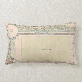Vintage Map of Prospect Park (1868) Lumbar Pillow