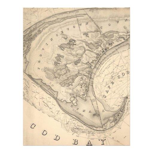 Vintage Map of Provincetown (1836) Letterhead Design