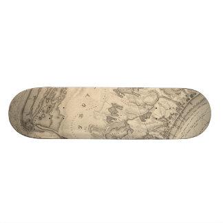 Vintage Map of Provincetown (1836) Skate Boards