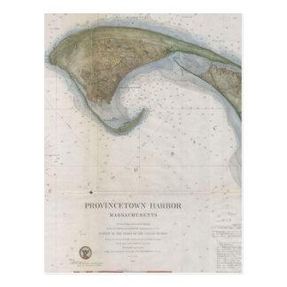 Vintage Map of Provincetown Postcard