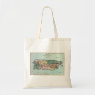 Vintage Map of Puerto Rico Tote Bag