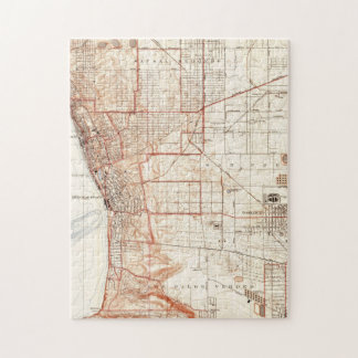 Vintage Map of Redondo Beach & Torrance CA (1934) Jigsaw Puzzle