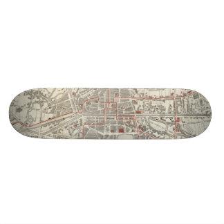Vintage Map of Rennes France (1905) Skate Boards