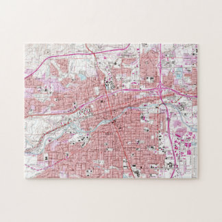 Vintage Map of Reno Nevada (1967) Jigsaw Puzzle