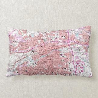 Vintage Map of Reno Nevada (1967) Lumbar Pillow