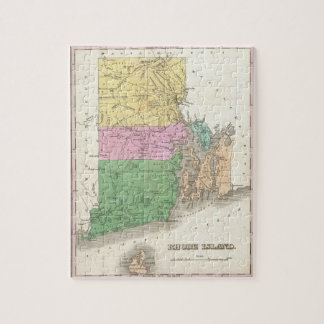 Vintage Map of Rhode Island (1827) Jigsaw Puzzle