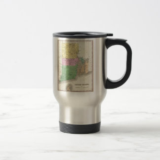 Vintage Map of Rhode Island (1827) Travel Mug