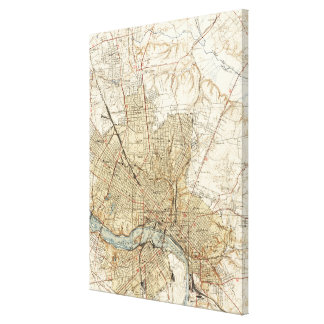 Vintage Map of Richmond Virginia (1934) Canvas Print