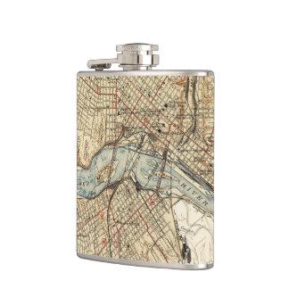 Vintage Map of Richmond Virginia (1934) Hip Flask