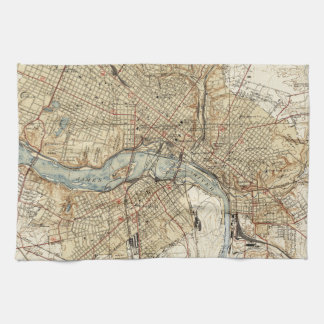 Vintage Map of Richmond Virginia (1934) Kitchen Towel