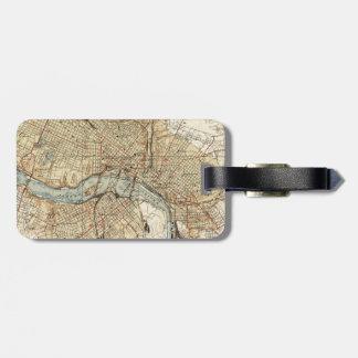 Vintage Map of Richmond Virginia (1934) Luggage Tag