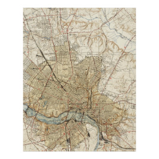 Vintage Map of Richmond Virginia (1934) Poster