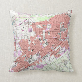 Vintage Map of Riverside California (1967) Throw Pillow
