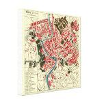 Vintage Map of Rome Canvas Prints