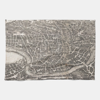 Vintage Map of Rome Italy (1652) Towel