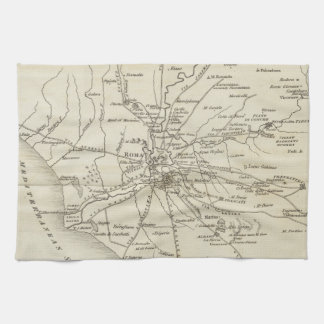 Vintage Map of Rome Italy (1821) Towel