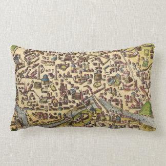 Vintage Map of Rome Italy Lumbar Pillow