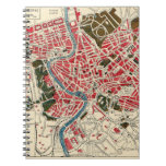 Vintage Map of Rome Spiral Notebook