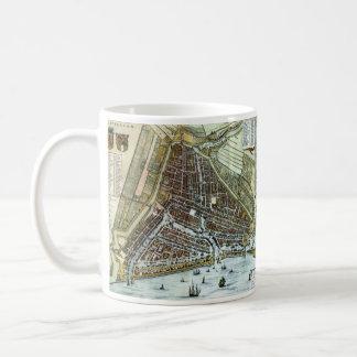 Vintage Map of Rotterdam Netherlands (1649) Coffee Mug