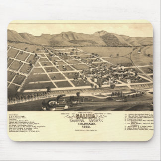 Vintage Map Of Salida Mouse Pad