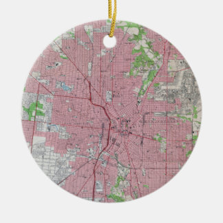 Vintage Map of San Antonio Texas (1953) Ceramic Ornament
