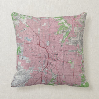 Vintage Map of San Antonio Texas (1953) Throw Pillow
