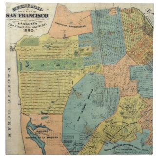 Vintage Map of San Francisco (1890) Napkin