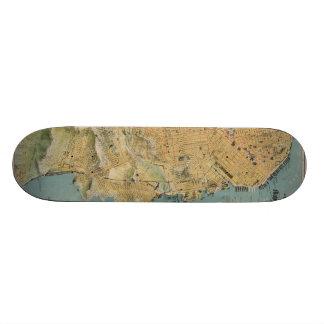Vintage Map of San Francisco (1915) Skateboards