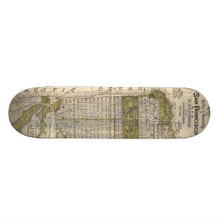 Vintage Map of San Francisco (1932) Skateboard