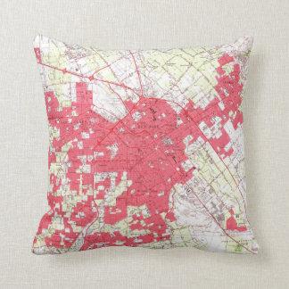 Vintage Map of San Jose California (1961) Throw Pillow