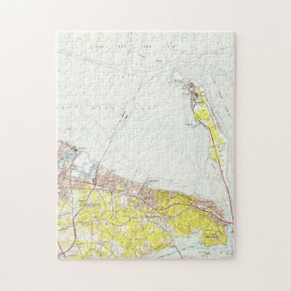 Vintage Map of Sandy Hook NJ (1954) Jigsaw Puzzle