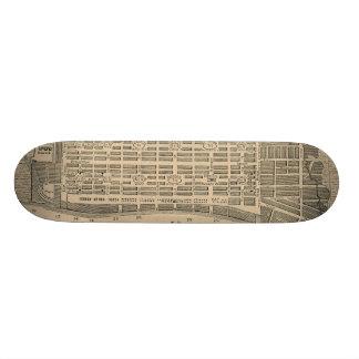 Vintage Map of Savannah Georgia (1818) Skate Decks