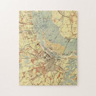 Vintage Map of Savannah Georgia (1942) Jigsaw Puzzle