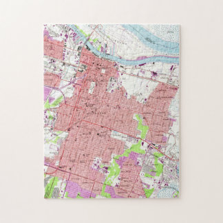 Vintage Map of Savannah Georgia (1955) 2 Jigsaw Puzzle