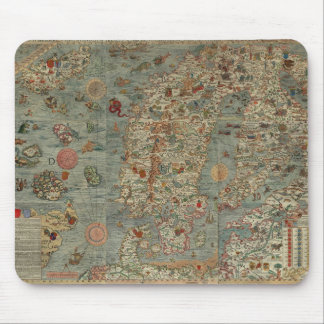 Vintage Map of Scandinavia Mouse Pad
