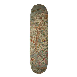 Vintage Map of Scandinavia Skate Board