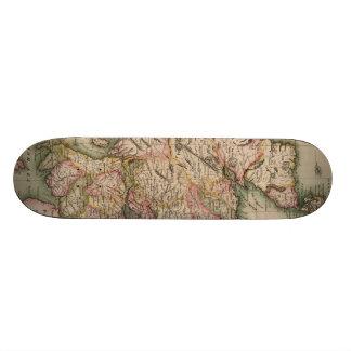 Vintage Map of Scotland (1814) Skate Board Decks