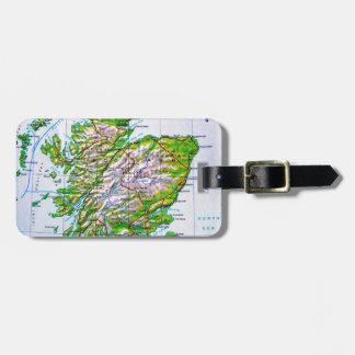 Vintage Map of Scotland Orkney Islands Bag Tag