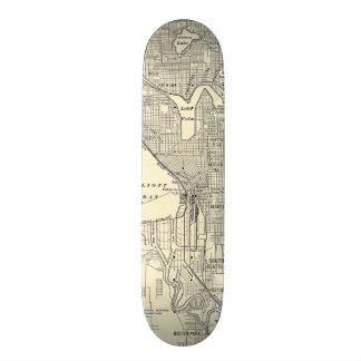Vintage Map of Seattle (1914) Skateboard Deck