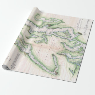 Vintage Map of Seattle and Puget Sound Wrapping Paper