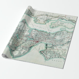 Vintage Map of Seattle Washington Wrapping Paper