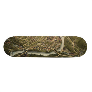 Vintage Map of Seymour Connecticut 1879 Skate Deck